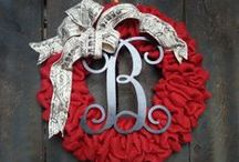 front door ideas & wreaths / by Nancy Blandford