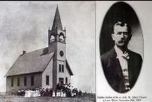 Local History St. John Lutheran Church and Cemeter / Photos of St. John Lutheran Church and Cemetery, Darien, IL. Church photos are courtesy of Darien Historical Society. Visit ippl.info/localhistory to read more about St. John Lutheran Church's history / by Indian Prairie Public Library