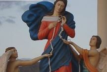 """Mary Untier of Knots / Pope Francis has made famous his devotion to the Virgin Mary under her title """"Untier of Knots."""" Originally invoked for a marriage crisis, Our Lady Undoer of Knots can help us in any tangled, difficult circumstance."""