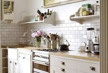Dream Interiors: Kitchen / Kitchens, big and small.  Ideas for galley kitchens typical of Yorkshire terraces and huge kitchen/diners with room for all the family and friends you could fit in