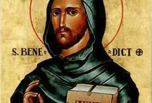 St Benedict - San Benito / All about St Benedict. Catholics like to pray to St. Benedict—protector against evil spirits—for his intercession and protection from the snares of the devil.
