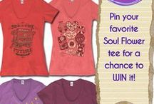 Pin It to Win It: Soul Flower T-Shirts / Pin your fave Soul Flower T-shirt below and include #faveSFtee to be entered to win a free eco-friendly tee from us!  / by Soul Flower (soulflower clothing)