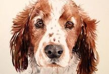 Beautiful Dog Art & Paintings / Ever seen a dog in art form? Check out some of these beautiful paintings of dogs!