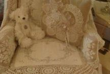 Creating with lace and linens / by Karen Hallac