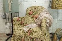 Shabby Chic / Things that have a soft and relaxing feel,  feminine, romantic style that is either old or looks distressed and is seemily comfortable and inviting.