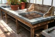 Build - Potting Benches / Utility Sinks, Potting Benches and Tables in the Garden / by Grace Hensley @ eTilth