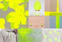 Kona Highlight COTY - Inspiration / Gathering inspiration for Robert Kaufman's Kona color of the year, Highlight.