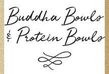 Buddha Bowls and Protein Bowls / Healthy Buddha bowl recipes.  Vegetarian buddha bowl. Vegan buddha bowl. Power bowl.