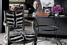 GRAPHIC FURNITURE & BOLD DECOR / Including interesting prints, textiles, textures, graphic art and more.