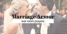 Marriage Armor / War Room Prayers / Praying God's Word for our marriages one simple sentence at a time. #Bible #Marriage #Prayer