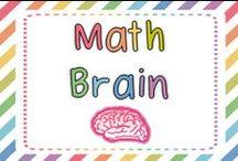 Math Brain / by First Grade Brain