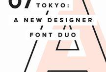 T Y P O G R A P H Y / The wonderful world of lettering, typography, typefaces, fonts, kerning & leading.