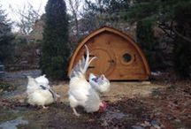 Hobbit Hole Chicken Coop / deluxe accommodations for your egg-laying ladies / by Wooden Wonders Hobbit Holes