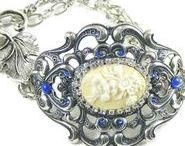 Jewellery ~ Blucha Jewels / Contemporary vintage style jewellery ~ handmade with vintage crystal & rhinestone jewels ~ http://blucha.etsy.com