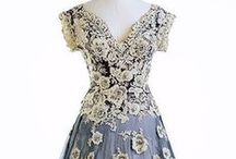 Fashion ~ Vintage 20th Century / Beautiful gowns and dresses from the early to mid 20th century, including vintage style replicas