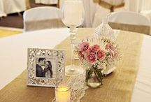 Burlap & Lace Weddings / Create rustic and vintage chic wedding decor using burlap and lace. / by Sweet Pea Parties