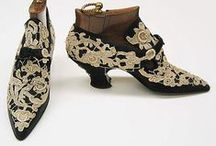 Historical Fashion ~ Shoes / All manner of beautiful shoes from the past