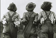 "WLA - Land Army (WW2) / The Women's Land Army was re-formed in June 1939 to help combat the agricultural labor shortage caused by the war. During its 11 years, some 80,000 Land Girls served on farms in England, Scotland and Wales and proved to be vital in helping produce the UK's food supply. The Women's Timber Corps (April 1942 - April 1946) was a separate arm of the WLA and its 6000 ""Lumber Jills"" worked in forestry and lumber mills. / by Catherine Berté"