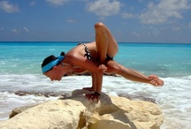 Yoga, Everywhere / We love yoga! - on the beach in Greece and Mexico, on the water here in Chicago, by the lake in beautiful Door County, Wisconsin.....EVERYWHERE!