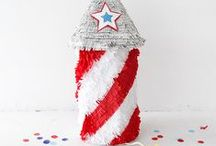 Fourth of July DIYs / Fourth of July, 4th of July, July 4th, Fourth of July crafts, Fourth of July decorations, Fourth of July decor, USA, fireworks, red, white and blue, flag