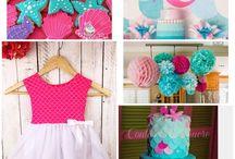 Mermaid Birthday Ideas / Under the Sea Mermaid girl birthday party ideas, Ariel Birthday Party, Mermaid Birthday Party Ideas