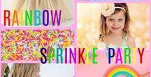 Sprinkle Rainbow Party Ideas / Sprinkle Party Ideas, Sprinkle Birthday Party Ideas for Kids, Rainbow Sprinkle Party