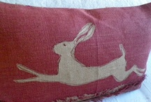 Linens and pillows / Old quilts, fabric and pillows, what is better than that.