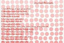 Marking the Journey /   Some of my own journal prompts, feel free to pin and share :)