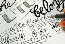 Hand Lettering, Graphic Design and Chalkboard Art by Meihsia Liu / This is a collection of Meihsia Liu's hand lettering.