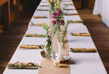Set the Table / Centerpieces, dishes, linens and place holders.