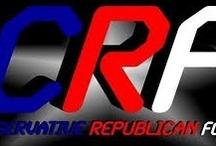 CRF Radio / Along with founder Steven Rosenblum, I co-host CRF Radio on Blog Talk Radio and the Red State Talk Radio Network.