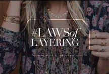 Layering Jewels  / Inspiration to product. Our favorite layers / by gorjana