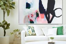 Abstract Art Ideas / The best way to start a hobby of painting is to gather beautiful works of art for inspiration. Here is a collection of beautiful brush strokes and tones to please the eye :)
