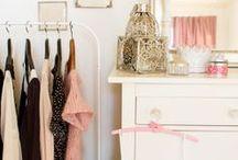 Dream Dressing Rooms / Create your dream dressing room: walk-in closets, vanity tables, wardrobes. Beautifully feminine...