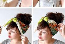 Cabello / Ideas para el cabello, recogidos, semirecogidos.