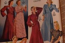 lounge wear / Dressing gowns, robes, pajamas and other glamorous lounging ensembles  / by Va-Voom Vintage