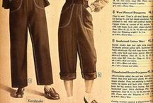 Vintage ladies Pants / vintage style pants, shorts and other trouser-like ensembles