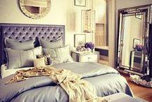 Romantic Decor / Romantic Glam: greys, pinks, whites, feminine interior design...