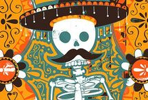 El Dias de Los Meurtos / I can't deny I am somehow connected to this celebration and I have a love of Sugar Skulls.
