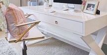 Office inspiration / Office and desk décor and inspiration!