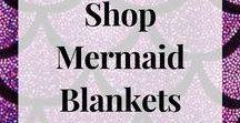 Mermaid Blankets / Knitted Mermaid Tail Blanket,   Christmas gift idea/ Birthday gift idea