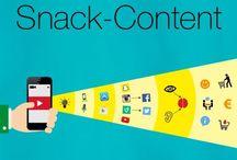Snack-Content / Snack-Content ist sekundenkurzer, aufmerksamkeitsstarker Content, meist als Bewegtbild in Form von Kurzvideos, GIFs, Snaps, Cinemagraphs o.ä.
