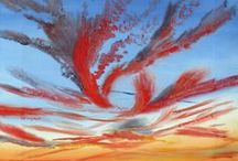 Jeni's Oil and Acrylic Paintings / Oil and acrylic skyscapes I have painted