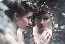 Mirror, my Looking Glass / Mirrors and reflections. Gilded, painted, smooth and shiny, mirrors show us who we are. / by Deborah J Dean