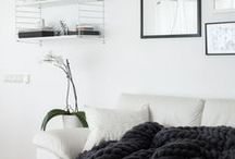 LIVING ROOM / ideas for decorating a living room. mostly Scandinavian and minimalist, monochrome or in neutral color scheme.