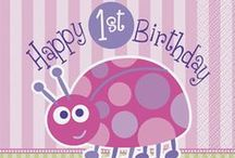 1st Birthday Ladybug Party / First birthday pink ladybug theme is perfect for girl's first birthday party.