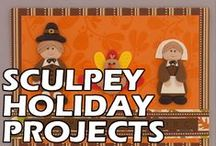 Sculpey Holiday/Seasonal Projects / Easter, St. Patricks Day, Thanksgiving, 4th of July, etc. All from sculpey.com / by Sculpey
