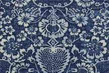 surface design :: shibori indigo / examples of Shibori, indigo, ink, batik fabric