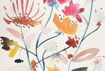 surface design :: florals :: watercolors, painterly