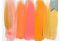 colors :: warms / pink orange red tangerine salmon blush coral